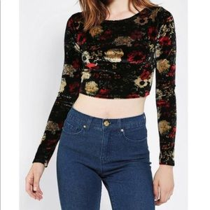 Urban Outfitters Kimchi Blue Velvet Crop Top